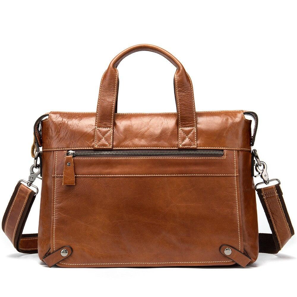 Genuine Leather Bag Male Package Leisure Time Business Affairs Document Cowhide Single Shoulder Satchel Man Handbag Briefcase