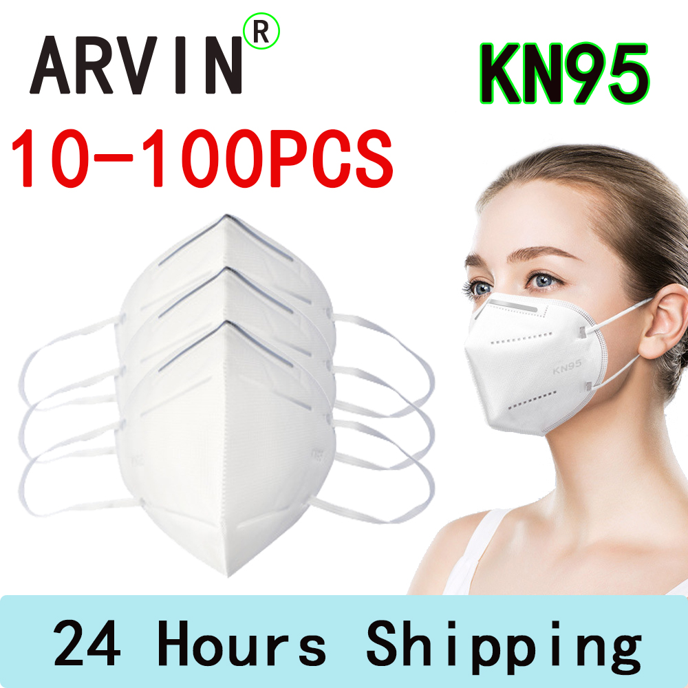 KN95 Mask10-100PCS 95% Filtration Anti Dust Bacterial k N 95 Mask Dustproof PPE Protective Mask Face Mouth Cover Features Masks