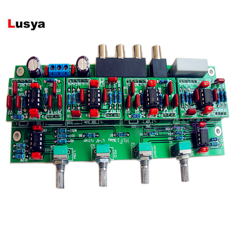 Mono Output Front-end Electronic Three-way Crossover Board Linkwitz-Riley 850HZ/4200HZ 3 Range Crossover-Point Adjustable T1280