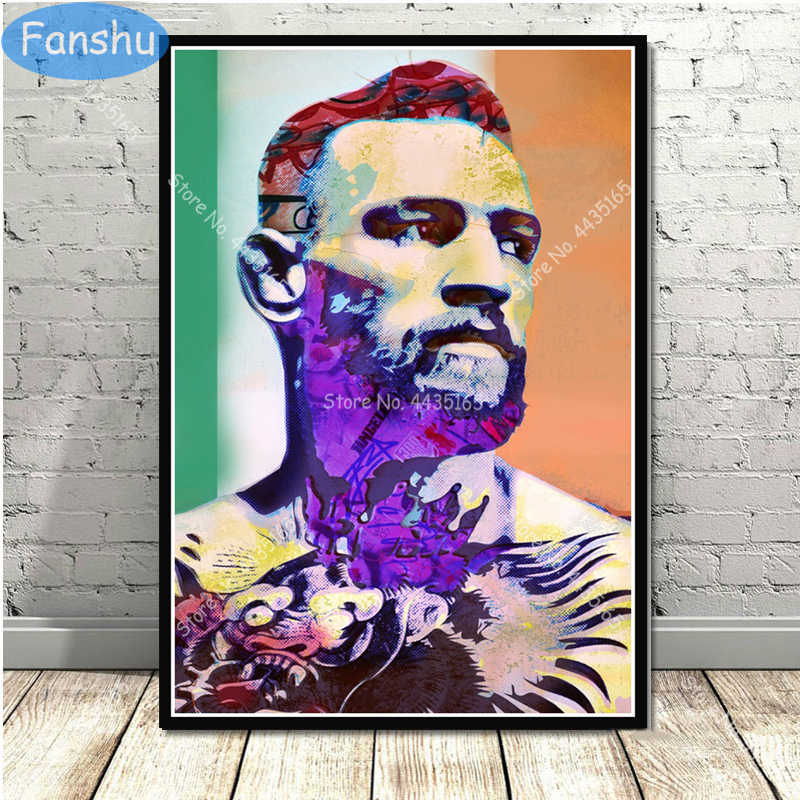 Conor McGregor UFC Boxer Champion Poster Canvas Painting Posters and Prints Wall Art  Picture for Living Room Home Decor