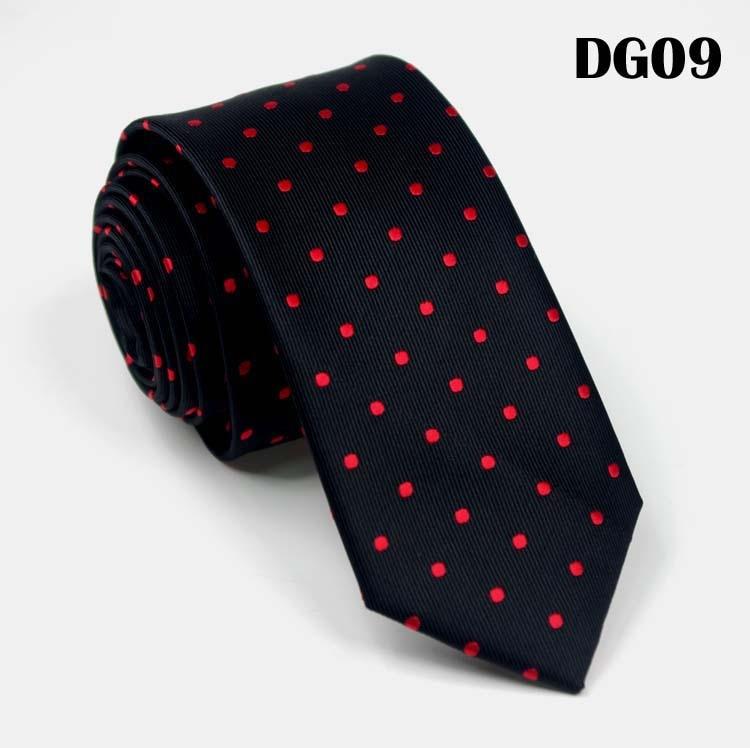 SCST Brand New Cravate Fashion White Dot Print Red Silk Ties For Men Wedding Tie 6cm Skinny Neckties Slim Necktie Gravata CR036