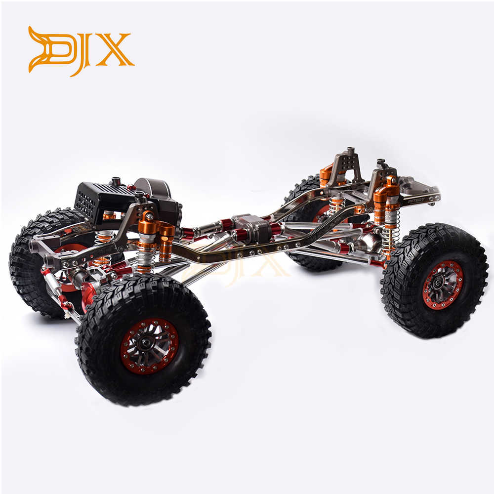 DJX CNC 313mm 12.3Inch Wielbasis Front Motor Gemonteerd Frame Chassis voor 1/10 RC Crawler Auto Axiale SCX10