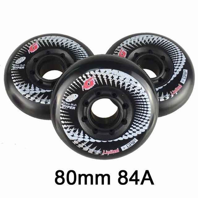 80mm 84A Rollers for Inline Skates Hyper +G Slalom Slide Skates Wheels for Kids Adult Patins Suit for SEBA Powerslide Shoes LZ36