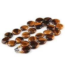 Wholesale Natural Stone Men Women Necklace Jewelry Tiger Eyes Quartz 24 Colors 16x16mm 18 Inches