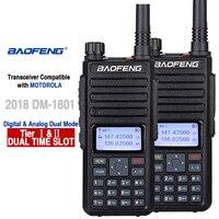 מכשיר הקשר 2pcs Baofeng DM-1801 DMR רדיו Dual Band מכשיר הקשר רובד I II Dual זמן חריץ UHF דיגיטלי Poste רדיו Voiturericetras (1)