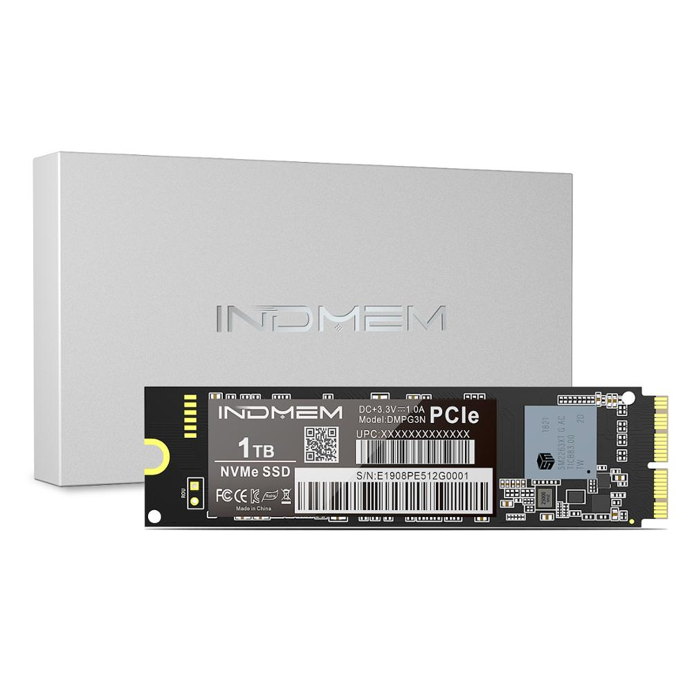 INDMEM 256GB 512GB 1TB <font><b>M.2</b></font> <font><b>SSD</b></font> <font><b>PCIe</b></font> NVME for Mac <font><b>SSD</b></font> M2 NVMe <font><b>SSD</b></font> Hard Drive Gen3x4 <font><b>SSD</b></font> 1TB for MacBook Air/Macbook Pro image