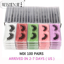 Atacado cílios de vison 30/40/50/100 pçs cílios de vison 3d cílios postiços naturais cílios falsos bagunçados maquiagem cílios falsos no volume