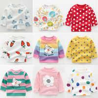 2019 neue Baby kinder Kleidung Baumwolle mit Langen ärmeln T-shirt Koreanische Version Nette Tops T Unterwäsche Weiche Casual Bodenbildung hemd