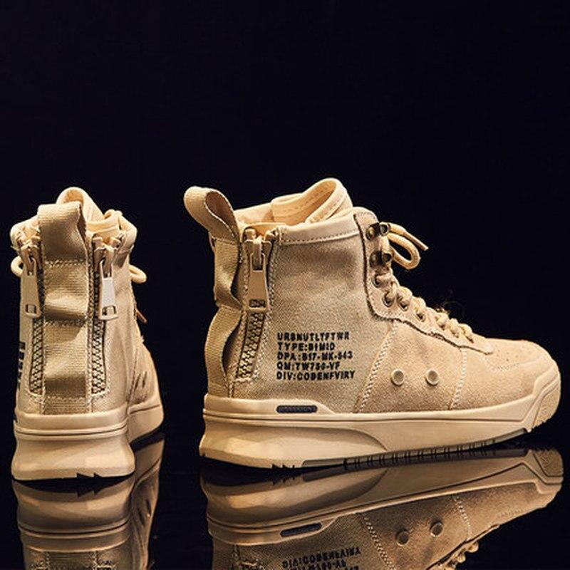 Новинка 2018 года; сезон осень; женские кроссовки с высоким вырезом в Корейском стиле; женская обувь с круглым носком на молнии сбоку; спортивная DP 329