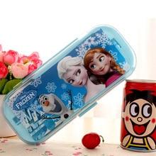 Disney замороженные дети детская посуда с рисунком палочки вилка ложка набор из трех предметов портативный комбинированный набор ложка