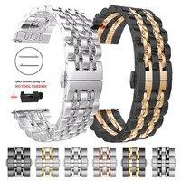 Edelstahl Strap Für Samsung Galaxy Uhr Aktive 2 3 41/45mm 42/46mm Band Armband für Getriebe Sport/S2 S3 20mm 22mm Armband