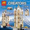 LELE créateur 30001 4295 pièces mondialement célèbre Architecture londres tour pont créateur Expert blocs de construction bricolage jouets 17004 10214