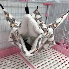 Hamster furão coelho cobaia algodão macio dormir ninhos duplo mezanino hammock pendurado esquilo saco de dormir suprimentos para animais de estimação