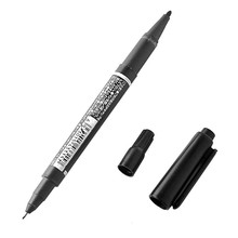 Lot 10 DVD CD Double Tip Fine Waterproof Permanent Oily Marker Pen Black