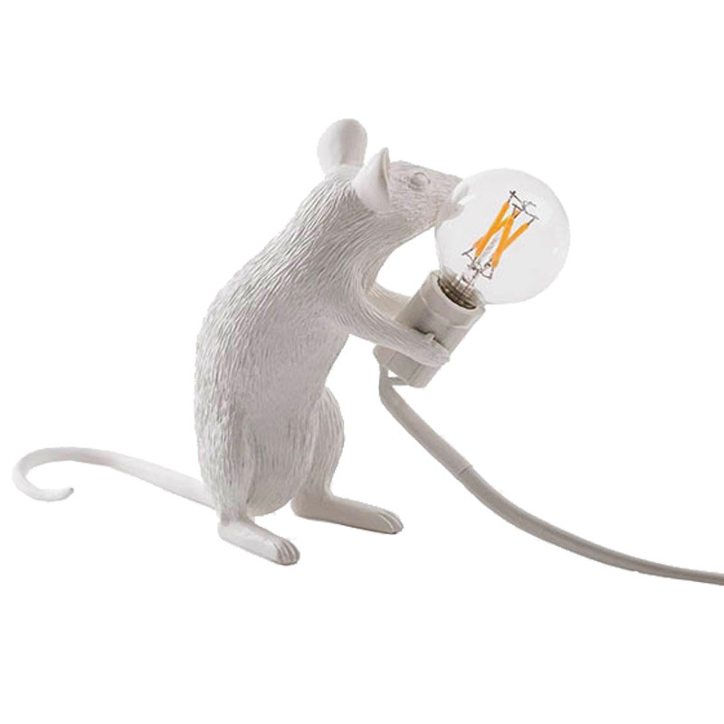 Art Decoration Animal Mouse Table Lamp Living Room Bedroom Library Dining Room Resin Desk Light Creative Lamp Home Deco