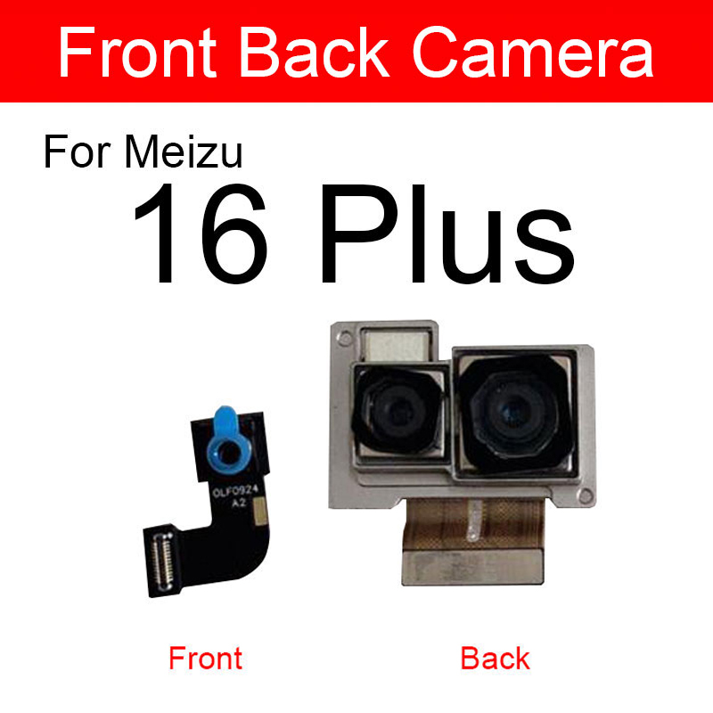 Front & Rear <font><b>Camera</b></font> Module For <font><b>Meizu</b></font> 16 <font><b>16th</b></font> Plus 16Plus 16thplus Main Back Big And Facing Small <font><b>Camera</b></font> Flex Cable Replacement image