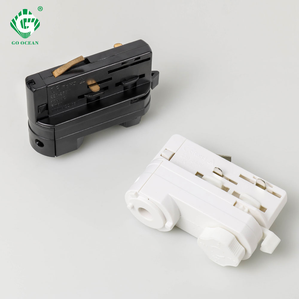 4 Line Track Light LED Head 4 Wire 3 Phase Spot Rail Lights Connector Guide