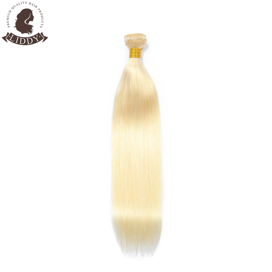 Liddy Straight Hair Bundles 613 Blonde Bundles Brazilian Hair Weave Bundles 100% Human Hair Bundles Non-remy Hair 1/3/4 Pieces