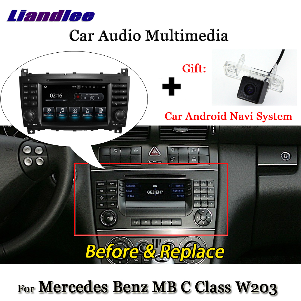 Liandlee Android 7.1 For Mercedes <font><b>Benz</b></font> C Class <font><b>W203</b></font> C180 C200 C230 C320 C350 <font><b>Radio</b></font> Carplay Camera GPS <font><b>Navi</b></font> Navigation Multimedia image