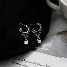 Stud-Earrings Jewelry-Accessories Joker Punk C-Shape XIALUOKE Vintage Chain-Tools Women