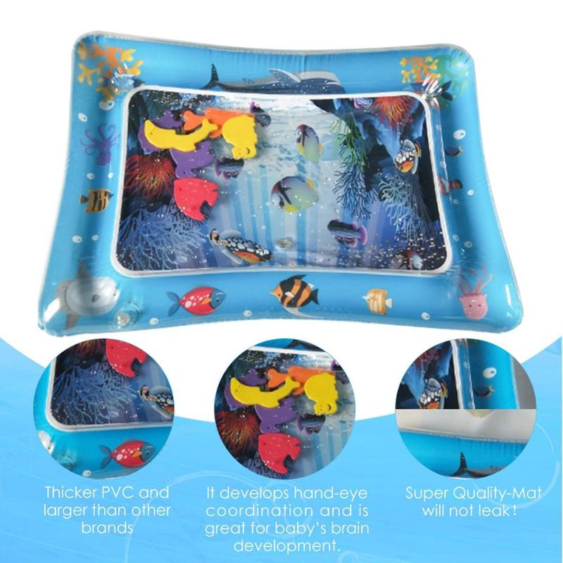 New Cartoon Infant Baby Inflatable Water Play Mat Toys Toddlers Tummy Time Playmat Newborn Activity Play Center Baby Gyms Mat