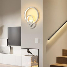 18W 36 LED Wall Light Flower Leaf Shape Rail project Square LED Wall Lamp Bedroom Wall Lamps Home Decor Night Light