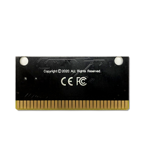 Image 5 - Carte de circuit imprimé pour Console de jeu vidéo Sega Genesis Megadrive, étiquette Red Zone   EUR Flashkit MD Electroless Gold PCB