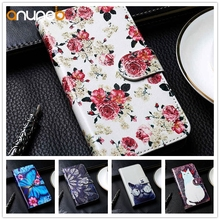 Stand PU Leather Case For ZTE Blade V10 Vita Flip Wallet Painted Cases Cover Coque Flower Animal Bumper