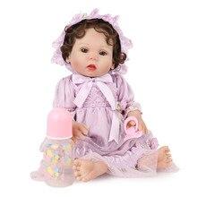 16inch Reborn Toddler Girl Adorable Silicone Baby Doll Cute Bebe Menina Bonecas Surprice Gifts Juguetes