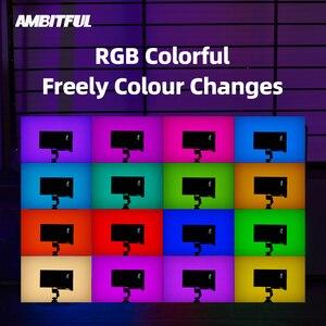 Image 4 - AMBITFUL luz LED regulable a todo Color K10 RGB 2500K 8500K para vídeo, fotografía, estudio, cámara DSLR, BL P1