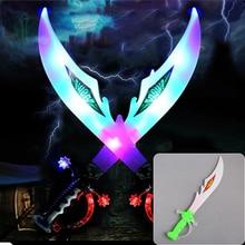 Красочный светодиодный Электрический мигающий светильник музыки меч звук дракона детская игрушка Пластик Ножи волна Меч мигает Ножи