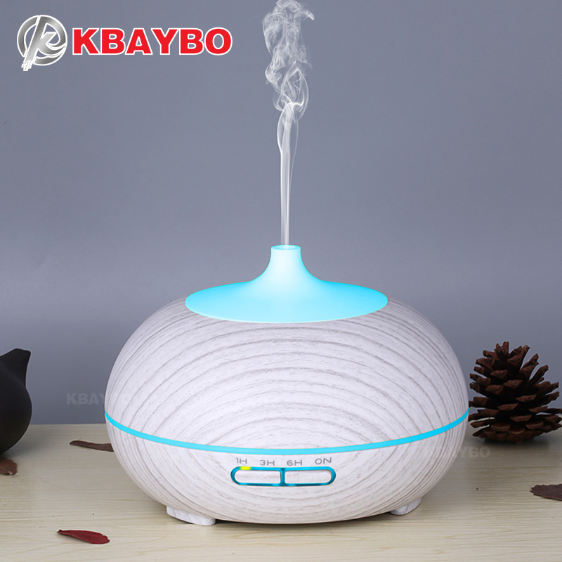 300ml Ultrasonic Air Humidifier Electric Essential Oil Diffusers Nano Spray Mist Maker With Romantic Soft LED Lights For Home