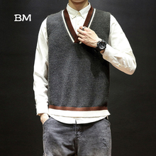 korean style sweater men sleeveless clothes kpop vest fashio