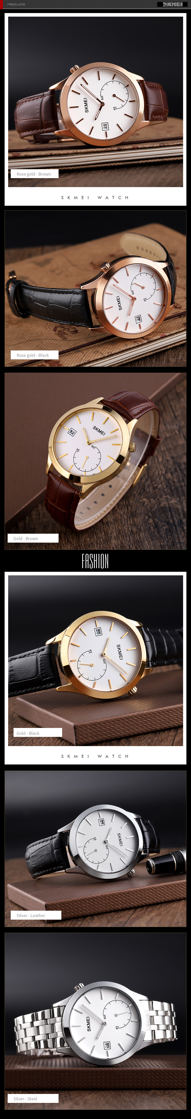 Hd8237fa4b2694b8d9ac960314c587c370 Business Simple Mens Quartz Watch SKMEI Brand