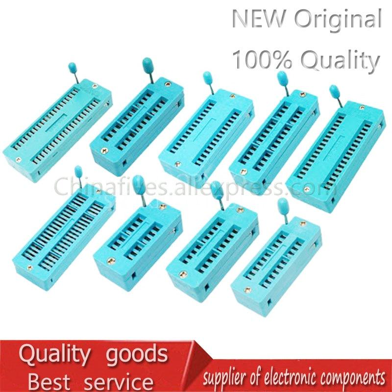 1PCS 14 16 18 20 24 28 32 40 P Pin 2.54 MM Green DIP Universal ZIF IC Socket Test Solder Type IC Connector Socket Test Seat