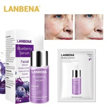 LANBENA Blueberry Serum Hyaluronic Acid Essence Oil Moisturizing Reduces Fine Lines Whitening Anti-Aging Anti Wrinkle Skin Care