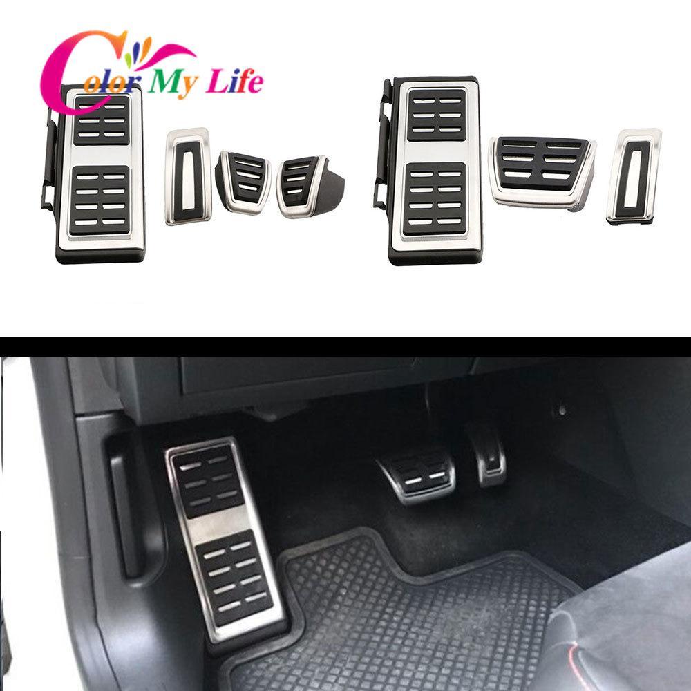 Color My Life Car Pedals for Skoda KAMIQ Combi SCALA Octavia Rapid Superb Karoq Kodiaq 2017 - 2020 LHD AT MT Pedal Pad Cover
