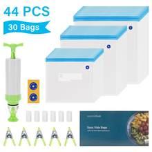Inkbird – sacs durables scellés Sous Vide, 3 tailles de 30 sacs de conservation des aliments réutilisables pour le stockage des aliments et la cuisson Sous Vide pour Chef Anova