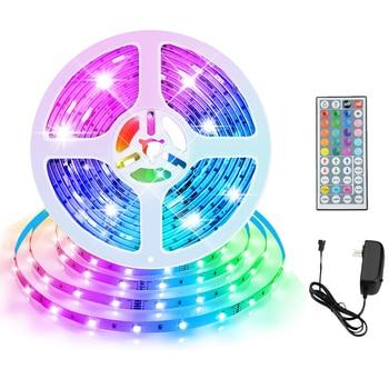 Tira de luces Led RGB para decoración de habitación, luces navideñas de 24V para exteriores, impermeables, 5050SMD, 5M, 10M, 15M, lámpara de pared