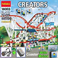 Compatible legoinglys créateur 10261 ensemble modèle ville montagnes russes jouet blocs de construction briques avec moteur 9v batterie cadeau d'anniversaire