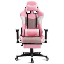 Girl's life well made desk chair thick cushion soft seat comfy swivel smoothly all directions gaming angle