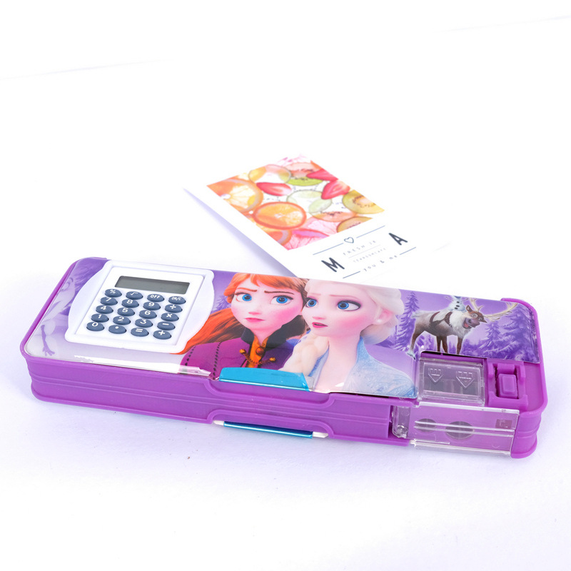 Disney Princess Cartoon Stationery Frozen Spiderman Cute Pencil Case Student School Supplies Boy Girl Holiday Gift