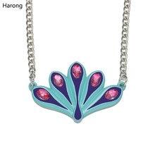 Harong joaninha colar bonito crianças clássico jóias esmalte azul bonito cristal gargantilha pingente comic personalizado colares meninas presente