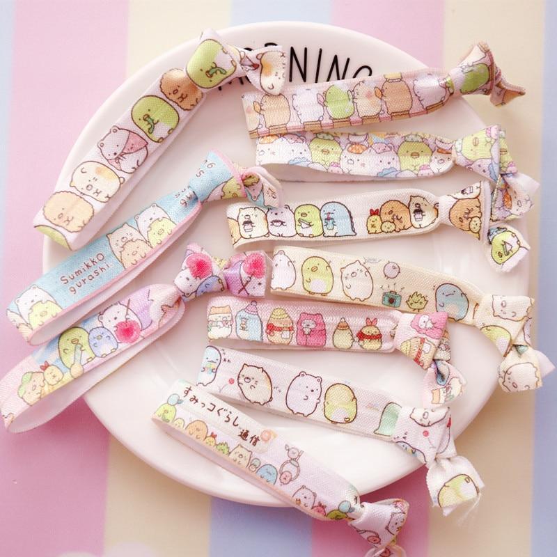 Creative Cartoon Sumikko Gurashi San-X Corner Bio Fashion Headwear Baby Headdress Hair Rope Elastic Hair Bands Girls Accessories