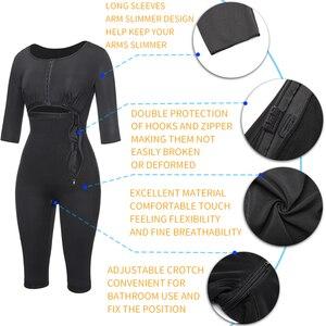 Image 4 - Women Fajas Colombianas Powernet Full Body Shaper Post Surgery BodySuit Waist Trainer Corset Shapewear Tummy Control Arm shaper