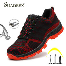 SUADEEX Work Safety Boots Men Women Steel Toe Shoes Male Indestructible Female Tactical Military Size 35-46