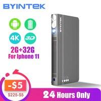 BYINTEK UFO P12 300 дюймов 2019 новейший Смарт 3D Full HD 4K 5G wifi Android Pico портативный Микро Мини светодиодный DLP проектор для Iphone 11