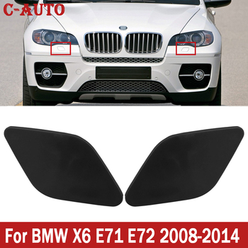 Car Front Head Light Washer Jet Cap Cover For BMW X6 E71 E72 2008 2009 2010 2011 2012 2013 2014 51657052427 51657052428 image