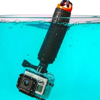 Woda pływający uchwyt do ręki uchwyt do montażu pływaka akcesoria do Go Pro Gopro Hero 8 7 6 5 4 Xiaomi Yi 4K SJ4000 SJ5000 Action Camera tanie i dobre opinie NEELU GA8888 Insta360 Sjcam SOOCOO EKEN Sony Rękojeści Finger Rowki