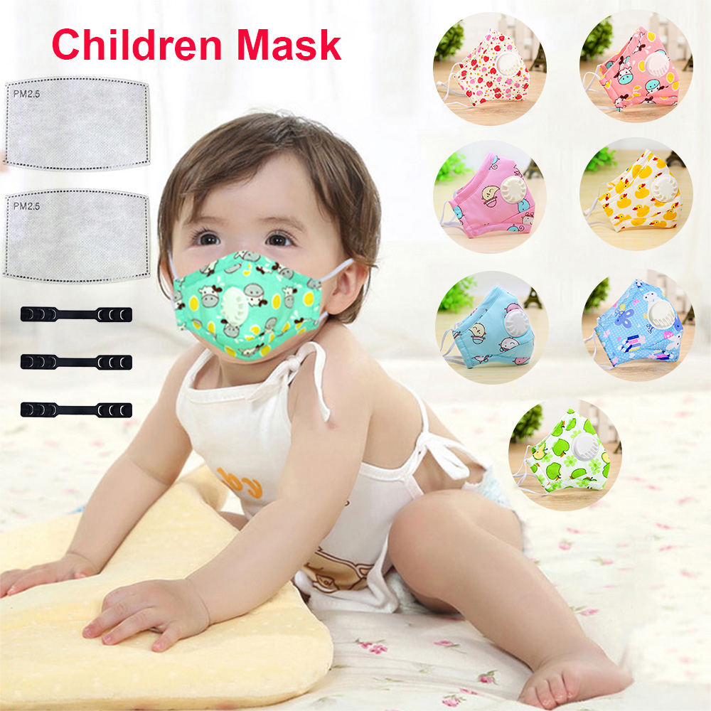 Baby PM2.5 Valve Mask Anti-fog Haze Dust Breathable Mask Filter Pad For Kids With Mask Buckle Ear Pain